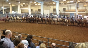Grand entry Chisolm Trail Ranch Rodeo