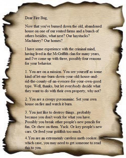 Dear Fire Bug