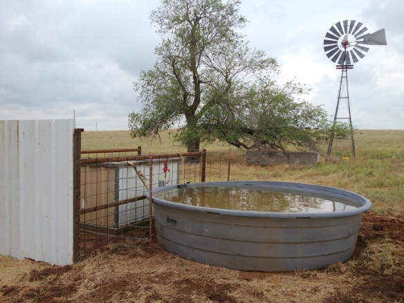 water tank on ranch