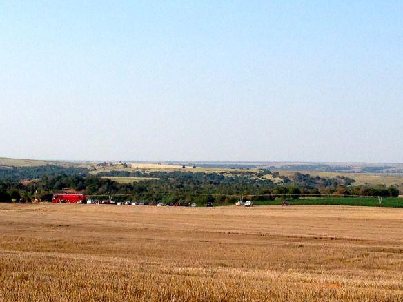 Wheat stubble field in western OK