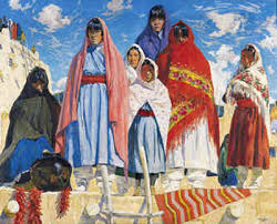 Taos Women by Walter Ufer