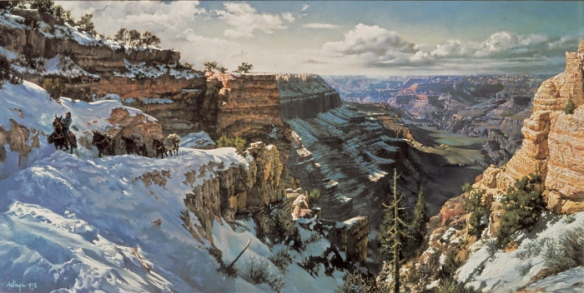 Grand Canyon--Kaibab Trail by Clark Hulings