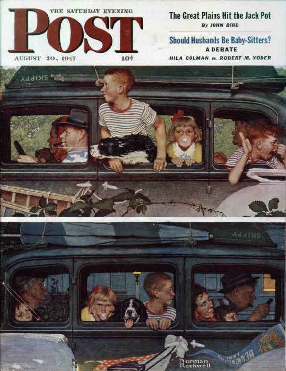 Going and Coming by Norman Rockwell