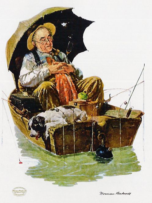 Gone Fishing by Norman Rockwell