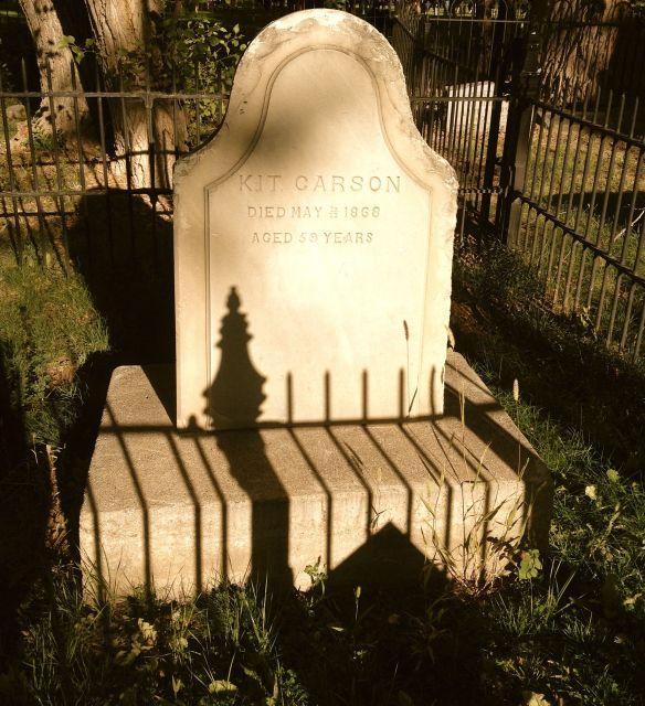 Kit Carson's gravestone Taos, New Mexico