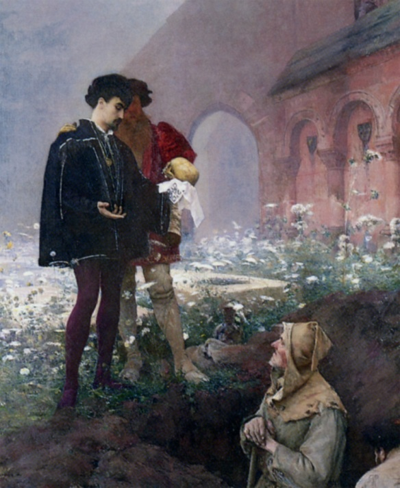 Hamlet and the Gravediggers, by Pascal Dagnan-Bouveret image via wikipedia